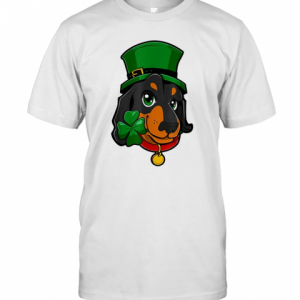 St Patricks Day Dachshund Leprechaun Dog T-Shirt Classic Men's T-shirt