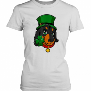 St Patricks Day Dachshund Leprechaun Dog T-Shirt Classic Women's T-shirt