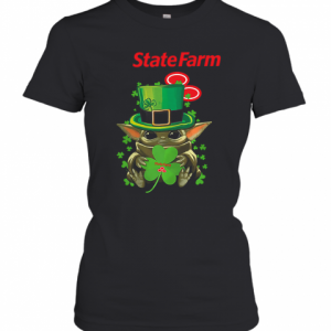 Star Wars Baby Yoda State Farm Shamrock St. Patrick'S Day T-Shirt Classic Women's T-shirt