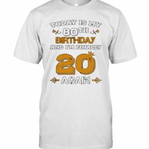 2020 Leap Year Birthday 80 Years Old Leapling T-Shirt Classic Men's T-shirt
